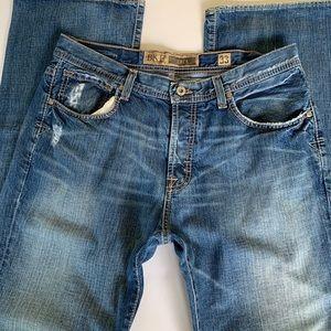 BKE Derek Distressed Wide Leg Jeans. 33